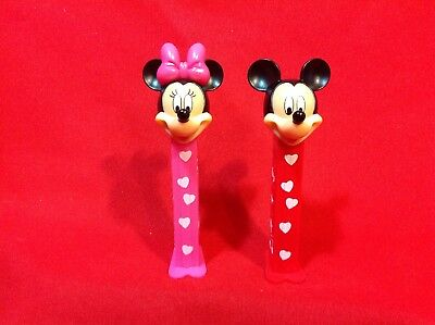 Pez Dispenser Disney MICKEY and MINNIE VAlentines Near MINT Loose