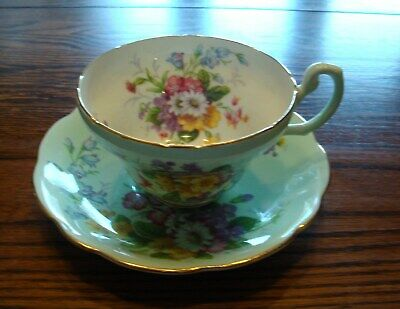 Foley Bone China Floral Pattern Tea Cup and Saucer Set