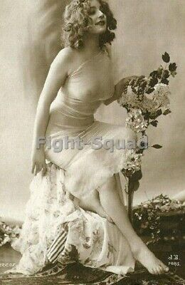 Picture Photo Erotic antique vintage art nude big breasts amazing woman 3397