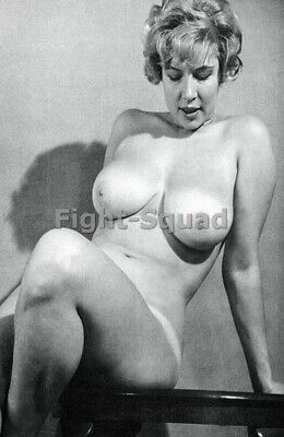 Picture Photo Erotic antique vintage art nude big breasts amazing woman 3399