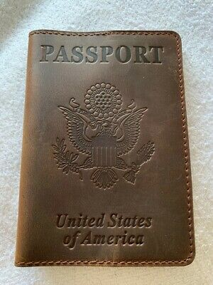 Kiton Genuine Leather US Passport Cover Exclusively Customized by Kiton