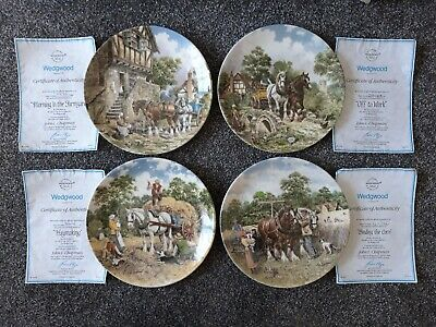 Wedgwood Life On The Farm Collection Decorative Plates 1 To 4 With Coa