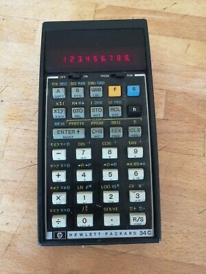 Hewlett Packard HP-34C Vintage PROGRAMMABLE Calculator TESTED Read !!