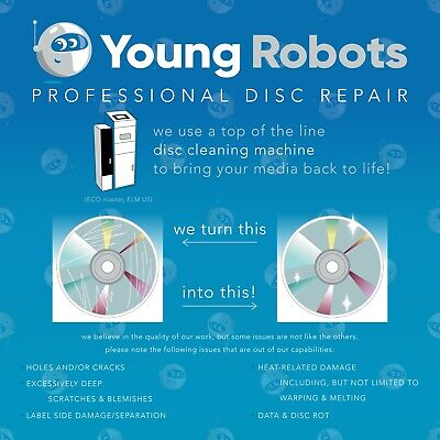 50 Mail-In Video Game CD DVD Blu-Ray Disc Repair Service - Remove Scratches