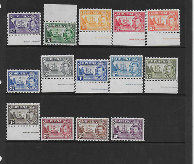 ST HELENA KGVI 1938-44 SG 131 TO SG 140 ½d TO 10/- MNH UNMOUNTED MINT MARGINALS