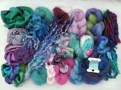 Insprirational Project pack ~ Wool ~ Silk ~ Locks ~ Felting ~ Textiles ~ Sewing