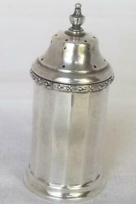 An Exquisite Solid Sterling Silver Faceted Pepper / Pepperette Birmingham 1936.