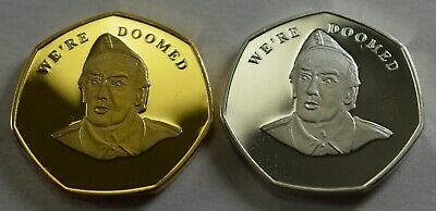 Pair of Brand New BREXIT Commemoratives 'WE'RE DOOMED' - Dads Army, Frazer
