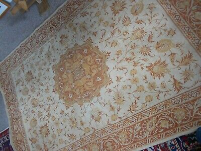 "Laura Ashley Templeton Malmaison Rug 52"" x 74"" good condition - cotton/wool"