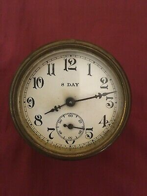 Antique, vintage Sessions clock face and works sold for parts Forestville, CT