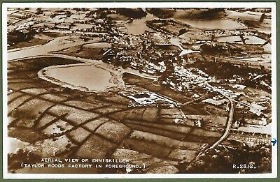 Aerial View of Taylor Woods Nylon Factory, Enniskillen. Fermanagh Real Photo.