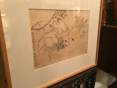 A Chinese Qing Dynasty Painting on Silk, Artist Signed.