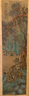 A Chinese 20th C Scroll Painting on Silk, Artist signed.
