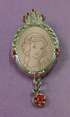 Disney HKDL - Princess Jeweled Frames with gems dangler - Snow White & Apple Pin