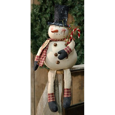 SALES Crinkled Frosty SNOWMAN HEAD Ornament Wreath decoration Garland ap
