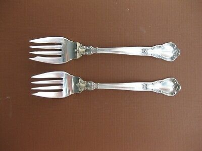 Pair of Gorham Chantilly sterling silver salad forks, 6 3/8""