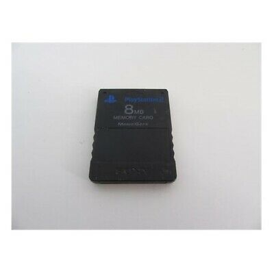 SONY Playstation 2 PS2 8MB Memory Card (Black) USED (ACCEPTABLE)