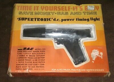 Vintage RAC D/C POWER TIMING LIGHT #524 MADE IN USA IN BOX car auto mechanic