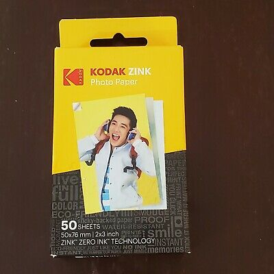 Kodak Mini 2x3 Stickers ZINK Photo Printer Paper Ink 50 Sheets NEW Printomatic