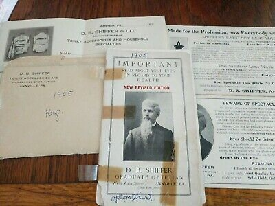 Antique Optometry (Pharmaceutical) Advertising & Stationery (5x)