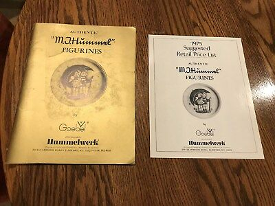 AUTHENTIC M.J. HUMMNL FIGURINES BY GOEBEL BOOK & 1975 PRICE LIST - distributed b