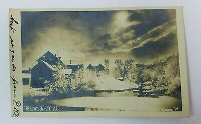1906 Barre Vermont Postcard Old Woolen Mills RPPC Real Photo Rare Haunting