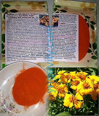 Tagetes Lucida (Mexican Tarragon)Extract Eye-Vitamin Nootropic Dreaming Herb 45g