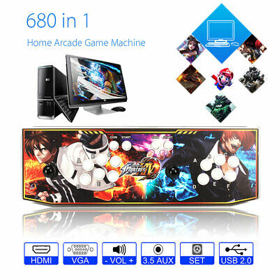 Blue LED Real Pandora's Box 6S+ Multiplayer Home Arcade Console 680 in1 Games US