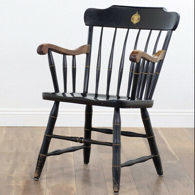 *RARE FIND* S. Bent & Brothers US Naval Academy Black Colonial Graduate Chair