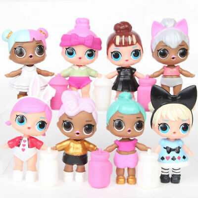8pcs LOL SURPRISE DOLL Blind Mystery Toy PVC Figure Cake Topper Gift Kid Toy--