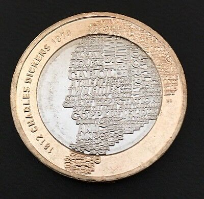 £2 Coin Charles Dickens 2012 FREEPOST