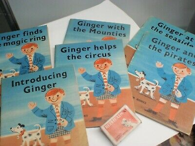 "school Readers  (6) ""Ginger""  illustrated Ex school library"