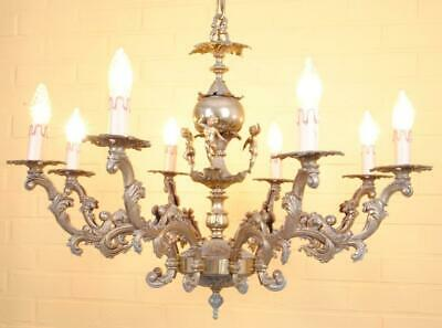 Gorgeous eight-light chandelier decorated with cherubs +++