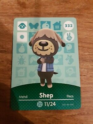 animal crossing new leaf welcome  amiibo card shep 332