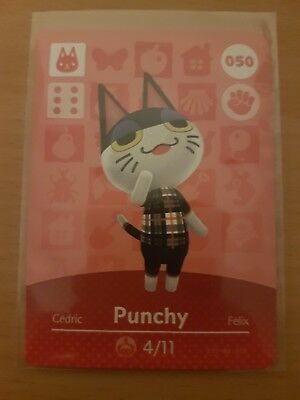 animal crossing new leaf welcome  amiibo card punchy 50