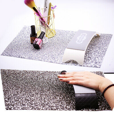 Diamante Nail Art Table Mat Salon Practice Cushion Washable Pad Hand Rest Tool