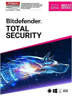 BITDEFENDER Total Security (Multi-Device) 2019 12 Monate für 5 Geräte + VPN