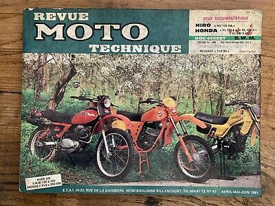 Revue MOTO Technique HIRO MX 125 RA - HONDA XL 250 400 et 500 S - 2nd Trim 1981