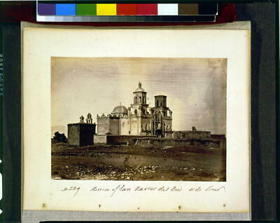 Mission of San Xavier del Bec,Bac,Side View,c1870,Arizona,Indians,North America