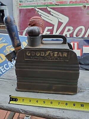 Vintage Goodyear Battery Service Tester Carrier Gas Station Rare