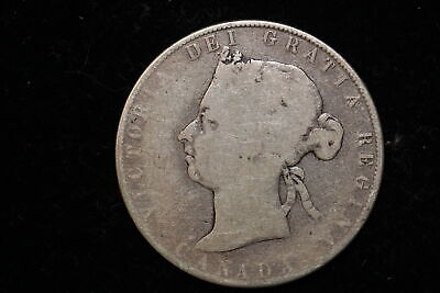 1899 Canada. 50 Cents. Hard to find rare key year.