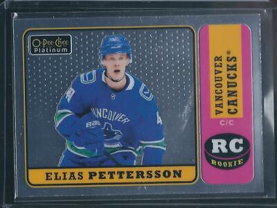 2018-19 OPC Platinum ELIAS PETTERSSON Retro Rookie #R-100 - Canucks RC