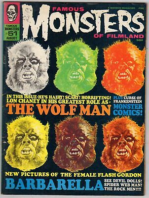 """James Warrens' """"Famous Monsters of Filmland"""" Comic/Magazine No.51 August 1968."""