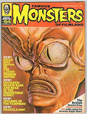 """James Warrens' """"Famous Monsters of Filmland"""" Comic/Magazine No.54 March 1969."""