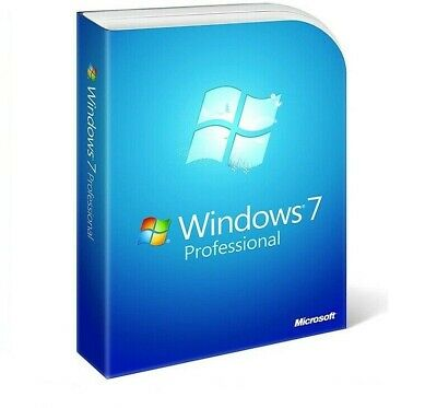 Windows 7 Professional Pro 32/64 Bit Licenza + DVD + sticker adesivo seriale OA