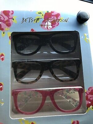 9c9d25815 Betsey Johnson Retro Thick Frame Readers BLACK, TORTOISE, RED/FLORAL 1.50+