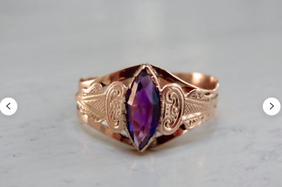 Antique Victorian 10k and Amethyst Ring