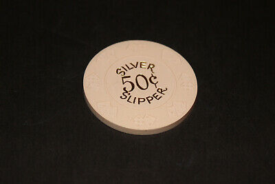 Rare Silver Slipper 50 Cent Chip Las Vegas Rated