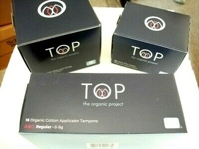 Top The Organic Project 100% Organic Cotton Tampons, Ultra Thin Liners & Pads