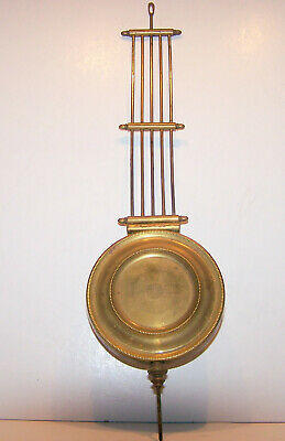 Antique brass grid-iron clock pendulum
